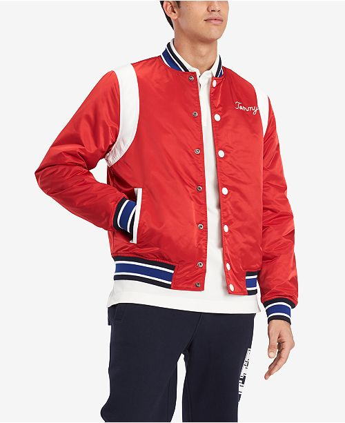 df49242d Tommy Hilfiger Men's Varsity Bomber Jacket, Created for Macy's ...