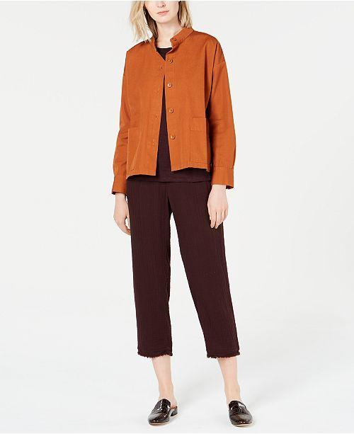 Eileen Fisher Jacket, Linen Top & Cropped Pants