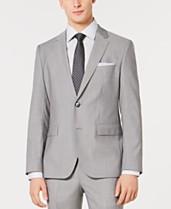 91315e008 HUGO Men's Slim-Fit Light Gray Tonal Grid Suit Jacket