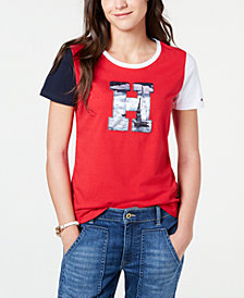 Tommy Hilfiger Logo-Patch T-Shirt, Created for Macy's