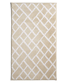 "Hotel Collection Geo Cotton 22"" x 36"" Bath Rug, Created for Macy's"