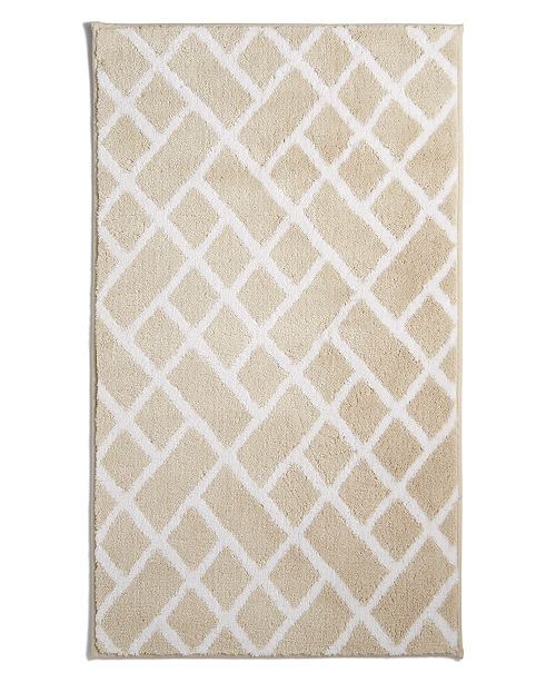 """Hotel Collection Geo Cotton 22"""" x 36"""" Bath Rug, Created for Macy's"""