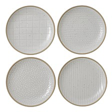 Royal Doulton Exclusively for Maze Grill Mixed White Plates, Set of 4