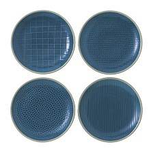 Royal Doulton Exclusively for Maze Grill Mixed Blue Salad Plates, Set of 4
