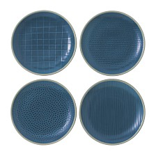 Royal Doulton Exclusively for Gordon Ramsay Maze Grill Mixed Blue Salad Plates, Set of 4