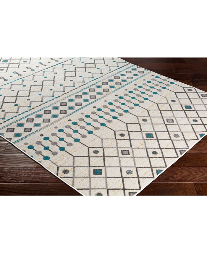 """Abbie & Allie Rugs - Rafetus ETS-2322 Teal 18"""" Square Swatch"""