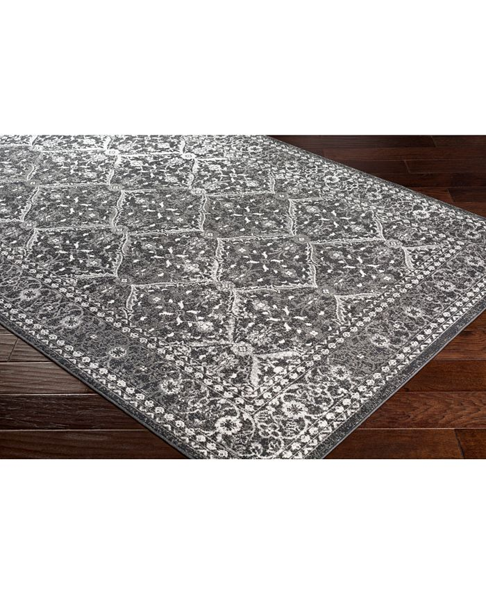 """Abbie & Allie Rugs - Rafetus ETS-2331 Charcoal 18"""" Square Swatch"""