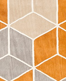 "Oasis OAS-1134 Burnt Orange 18"" Square Swatch"