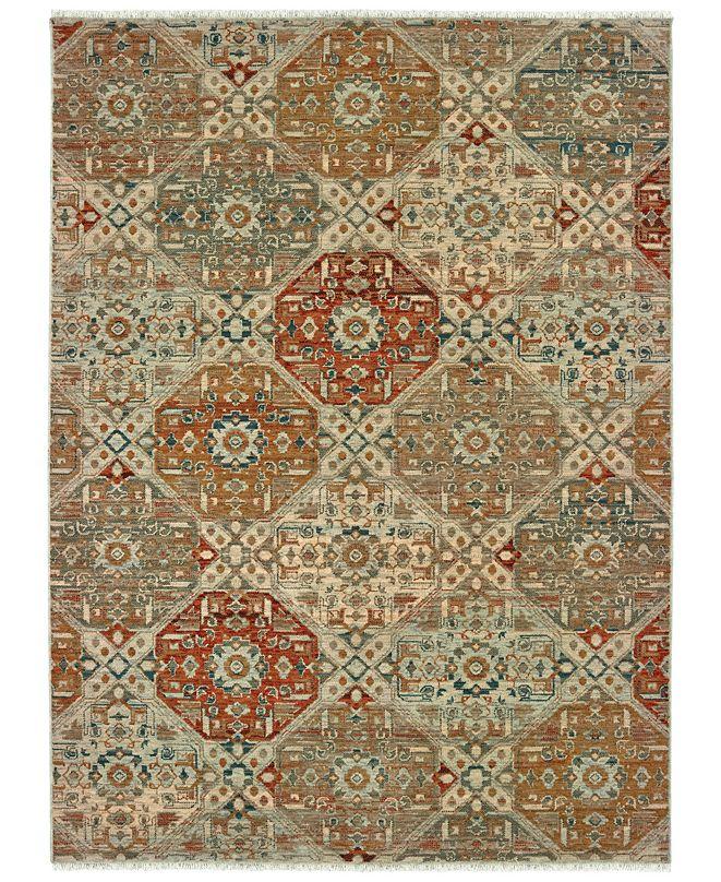 "Oriental Weavers Anatolia 090E3 Sand/Rust 2'3"" x 10' Runner Area Rug"