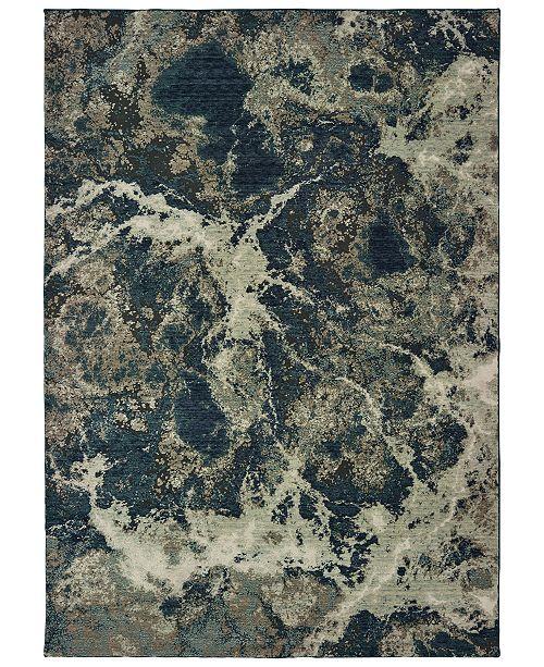 "Oriental Weavers Montage 001PE Gray/Blue 3'10"" x 5'5"" Area Rug"