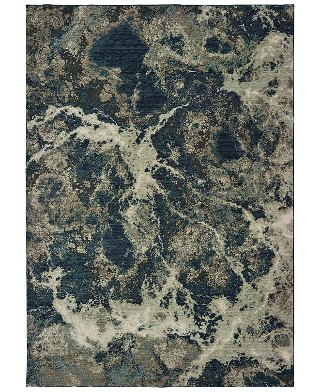 "Oriental Weavers Montage 001PE Gray/Blue 6'7"" x 9'6"" Area Rug"