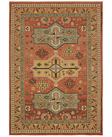 "Oriental Weavers Toscana 9571A Orange/Gold 2'3"" x 7'6"" Runner Area Rug"