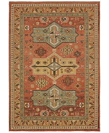 "Oriental Weavers Toscana 9571A Orange/Gold 3'10"" x 5'5"" Area Rug"