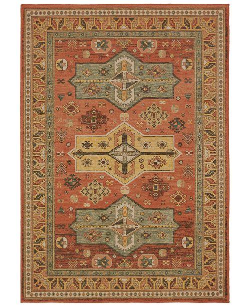 """Oriental Weavers Toscana 9571A Orange/Gold 6'7"""" x 9'6"""" Area Rug"""