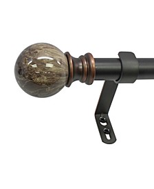 Marble Ball Telescoping Curtain Rod Set Collection
