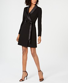 Adrianna Papell Tuxedo Sheath Dress, Created for Macy's