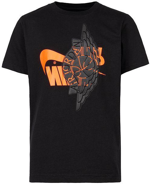 51a955669b4 Jordan Big Boys Graphic-Print Cotton T-Shirt   Reviews - Shirts ...