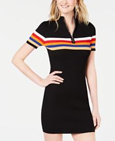 7a98cf228da Crave Fame Juniors  Rainbow-Stripe Sweater Dress