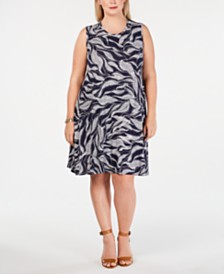 fb75bd3ba37 Style   Co Plus Size Printed Swing Dress