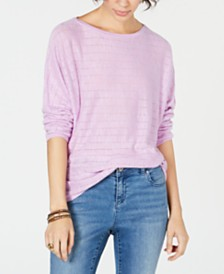 Style & Co Petite Ribbed Drop-Shoulder Pullover Top, Created for Macy's