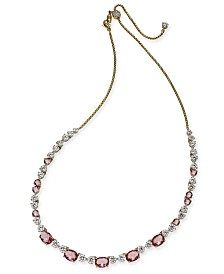 """Eliot Danori Gold-Tone Crystal Collar Necklace, 18"""" + 3"""" extender, Created for Macy's"""