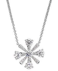 "Eliot Danori Crystal Flower Pendant Necklace, 16"" + 1"" extender, Created for Macy's"