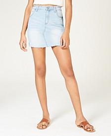 Juniors' Denim Mini Skirt
