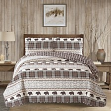 Grizzly 3 Piece Quilt Set Full/Queen