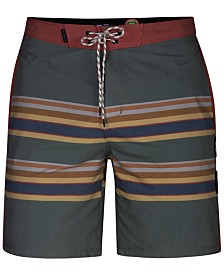 "Hurley Men's Pendleton Badlands Striped 18"" Board Shorts"