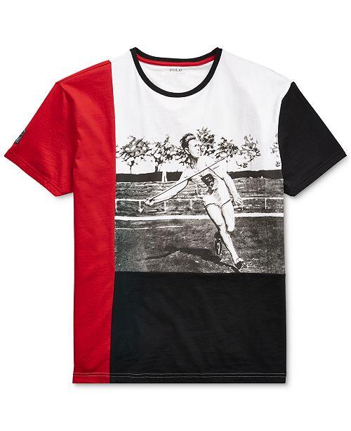 49f5787f ... Polo Ralph Lauren Men's P-Wing Active Fit Graphic Cotton T-Shirt ...