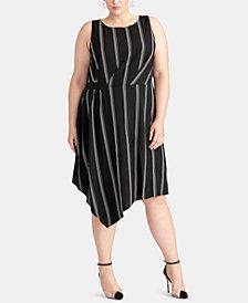 RACHEL Rachel Roy Plus Size Rina Stripe Dress