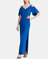 8848a0af6d Lauren Ralph Lauren Cold-Shoulder Jersey Gown