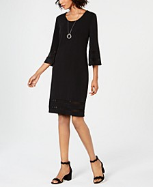 Mesh-Inset Necklace Dress, Created for Macy's