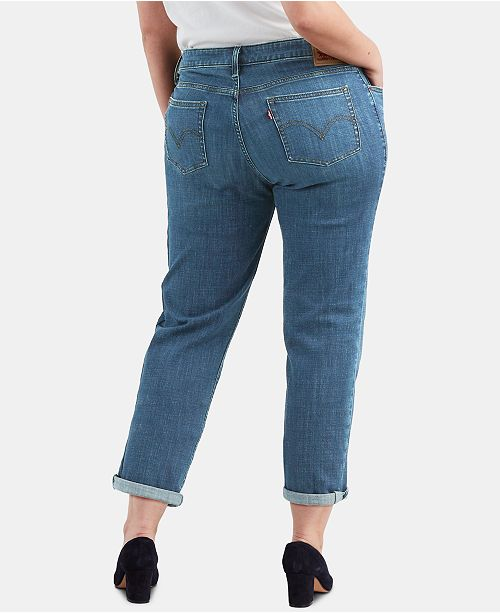 8f727a58db6 Levi s Plus Size Cuffed Boyfriend Jeans - Jeans - Plus Sizes - Macy s
