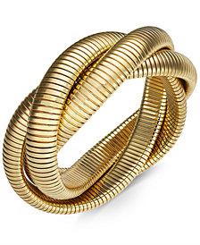 Thalia Sodi Twisted Herringbone Stretch Bracelet, Created for Macy's