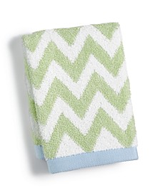 "Chevron Spa Cotton 13"" x 13"" Wash Towel, Created for Macy's"