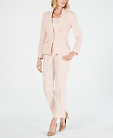 Le Suit Petite One-Button Pantsuit