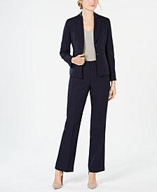 Le Suit Striped Pant Suit