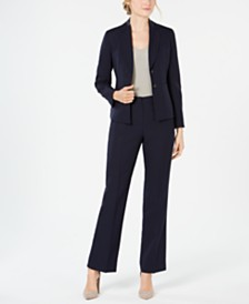 Le Suit Striped Pant Suit