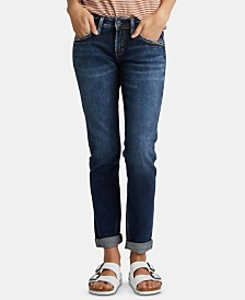 Silver Jeans Co. Rolled Boyfriend Jeans