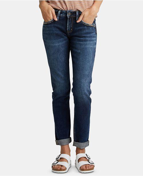 Silver Jeans Co. Rolled Boyfriend Jeans
