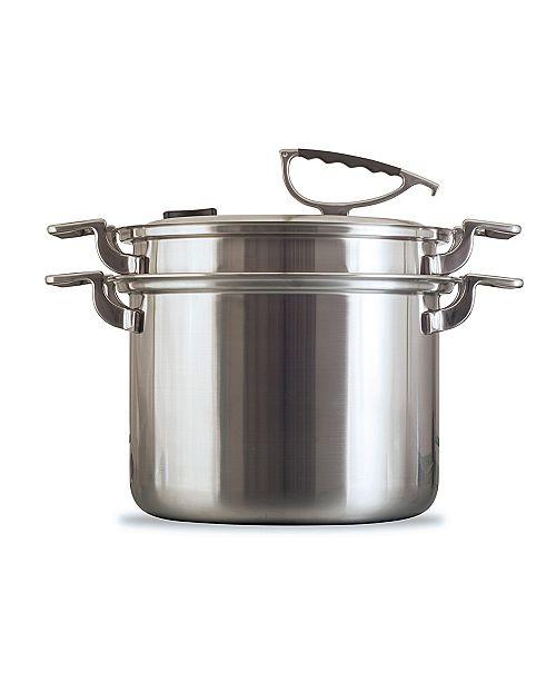 CookCraft 8 Quart Tri-Ply Stock Pot Strainer Set
