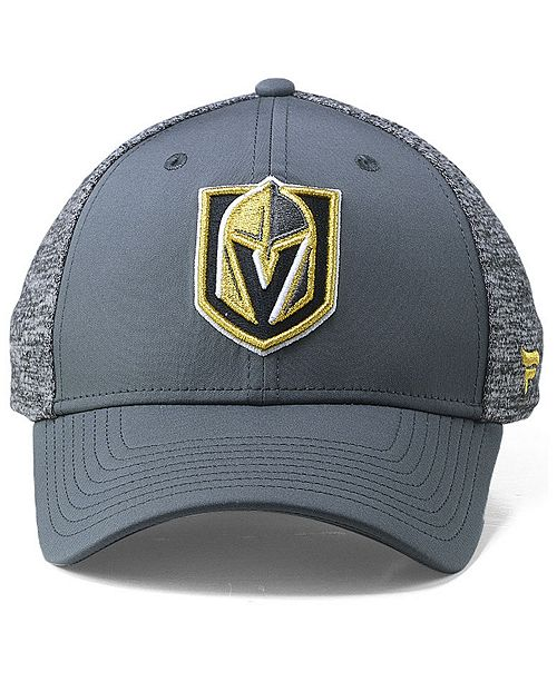 ecd9c53a84e ... Authentic NHL Headwear Vegas Golden Knights Heathered Team Flex Stretch  Fitted Cap ...