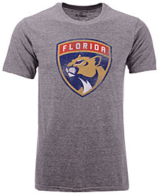 Majestic Men's Florida Panthers Tri-Blend Team Logo T-Shirt