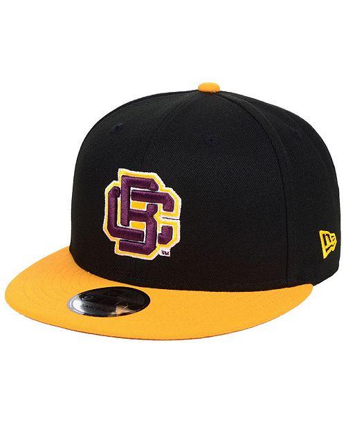 New Era Bethune Cookman University Wildcats Black Team Color 9FIFTY Snapback Cap