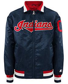 G-III Sports Men's Cleveland Indians Captain Starter Satin Jacket II