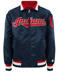 G-III Sports Men's Cleveland Indians Captain Starter Satin Jacket II
