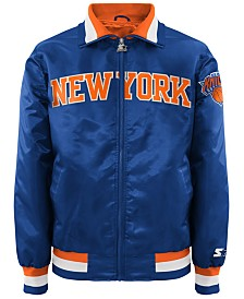 G-III Sports Men's New York Knicks Starter Captain II Satin Jacket