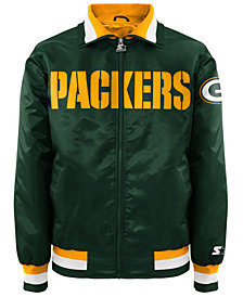 G-III Sports Men's Green Bay Packers Starter Captain II Satin Jacket
