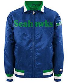 G-III Sports Men's Seattle Seahawks Starter Captain II Satin Jacket